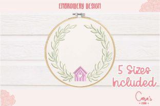 House Wreath Floral Wreaths Embroidery Design By carasembor