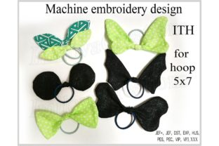 ITH Bow Accessories Embroidery Design By ImilovaCreations