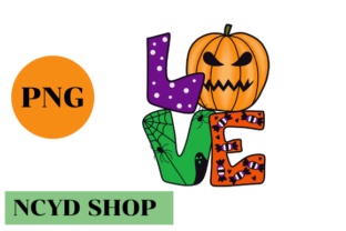 Love Halloween PNG,Love PNG Graphic Illustrations By NCYD