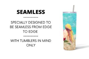 Mermaid Tumbler Sublimation Graphic Print Templates By SvgOcean 3