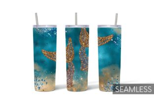 Mermaid Tumbler Sublimation Graphic Print Templates By SvgOcean 7