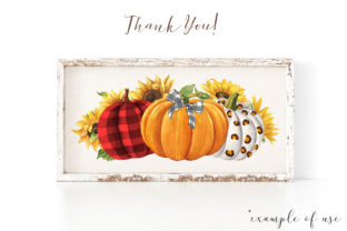 Pumpkins and Sunflowers Autumn Clipart Graphic Illustrations By KaleArtCreative 4