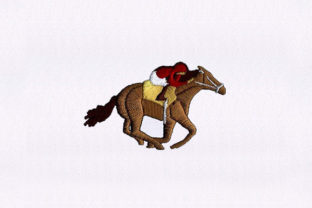 Racing Dude Horse Horses Embroidery Design By StitchersCorp