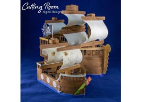 Sailing Ship Set -Colonist, Pirate Graphic 3D SVG By cuttingroomdesigns