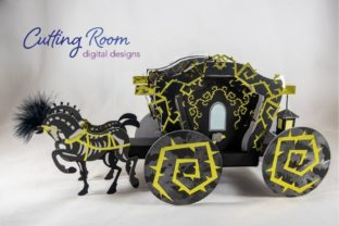 Spooky Carriage Graphic 3D SVG By cuttingroomdesigns