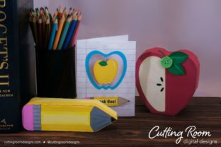 Teacher Appreciation Boxes and Card Graphic 3D SVG By cuttingroomdesigns