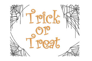 Trick or Treat Halloween Web Halloween Embroidery Design By Canada Crafts Studio