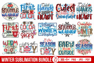 Winter Sublimation Bundle Graphic Crafts By CraftlabSVG