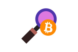 Bitcoin Icon  Coin Magnifying Glass Graphic Icons By bumpelstudio