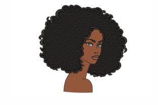 African Woman Fashion & Beauty Embroidery Design By NinoEmbroidery
