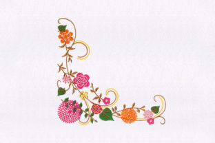 Appealing Flowers Floral & Garden Embroidery Design By StitchersCorp