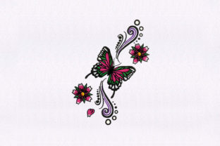 Butterfly Insect Bugs & Insects Embroidery Design By StitchersCorp