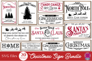 Christmas Farmhouse Sign Bundle Graphic Crafts By Rumi Designed