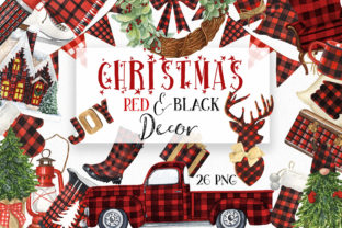 Christmas Red and Black Decor Graphic Illustrations By KaleArtCreative