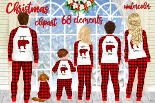 Print on Demand: Christmas Family Matching Pajamas Png Graphic Illustrations By LeCoqDesign 1