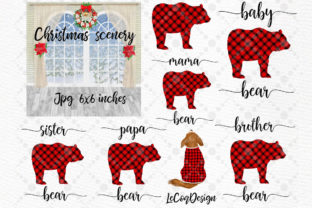 Print on Demand: Christmas Family Matching Pajamas Png Graphic Illustrations By LeCoqDesign 4