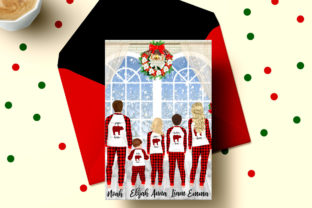 Print on Demand: Christmas Family Matching Pajamas Png Graphic Illustrations By LeCoqDesign 5