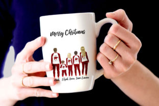 Print on Demand: Christmas Family Matching Pajamas Png Graphic Illustrations By LeCoqDesign 7