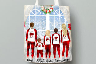Print on Demand: Christmas Family Matching Pajamas Png Graphic Illustrations By LeCoqDesign 8