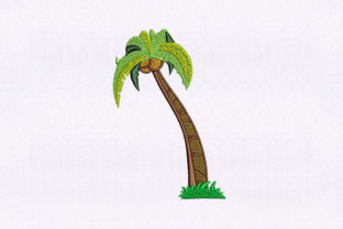 Coconut Tree Forest & Trees Embroidery Design By StitchersCorp