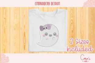 Cute Ghost Halloween Embroidery Design By carasembor