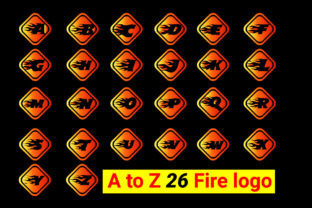 Fire a to Z Letter Logo and Icon Design 3 Bundle By mdnuruzzaman01893