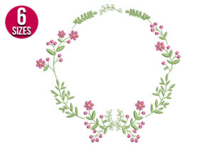 Print on Demand: Floral Frame Floral Wreaths Embroidery Design By Nations Embroidery
