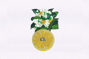 Floral Vines Fruit Food & Dining Embroidery Design By StitchersCorp