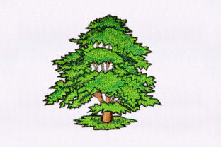 Full Grown Tree Forest & Trees Embroidery Design By StitchersCorp