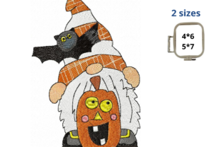 Halloween Gnome Halloween Embroidery Design By LaceArtDesigns
