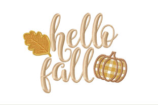Hello Fall Autumn Embroidery Design By ArtDigitalEmbroidery