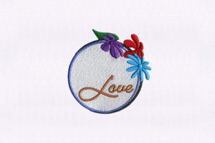Love Floral Quilting Floral Wreaths Embroidery Design By StitchersCorp