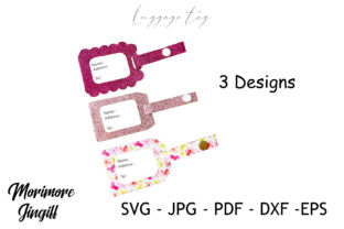 Print on Demand: Luggage Tag Template SVG Graphic 3D SVG By morimorejingiff