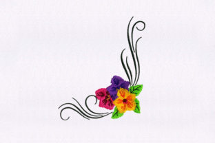 Multicolored Flowers Bouquets & Bunches Embroidery Design By StitchersCorp