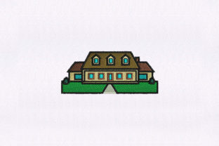 Suburban House House & Home Embroidery Design By StitchersCorp