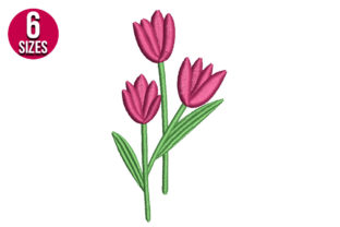 Print on Demand: Tulips Bouquets & Bunches Embroidery Design By Nations Embroidery