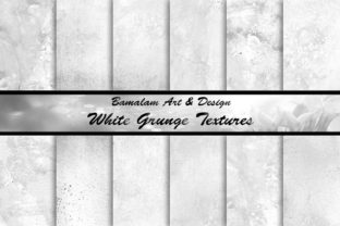 White Grunge Textured Backgrounds Graphic Textures By Bamalam Art & Design