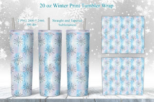 Print on Demand: Winter Snowflakes Tumbler Sublimation Graphic Crafts By LerVik