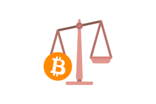 Cute Bitcoin Icon Financial Scale Graphic Icons By geometricspacestudio