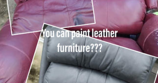 Scroll Stopper: I Painted My Leather Furniture