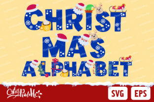 Print on Demand: Christmas Font Alphabet Graphic Crafts By CutiesPrintable