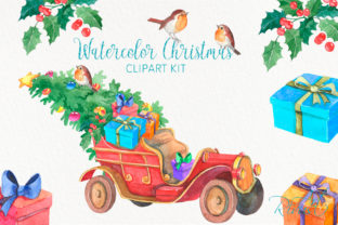 Christmas Truck PNG Clipart Bundle. Graphic Illustrations By CosyArtStore by RivusDea