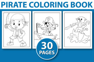 Print on Demand: PIRATE COLORING BOOK PAGES for KDP BOOK Graphic Coloring Pages & Books Kids By KDP INTERIOR DESIGN