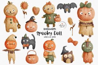 Print on Demand: Voodoo Doll Halloween Clipart, Halloween Graphic Illustrations By Chonnieartwork