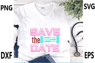 Print on Demand: Wedding Svg Design,Save the Date Graphic Print Templates By Nasrin Graphics