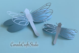 3D Dragonfly Graphic 3D Shadow Box By Canada Crafts Studio