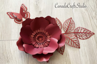 3d Paper Flowers 57, Leaf, Butterfly Graphic Crafts By Canada Crafts Studio