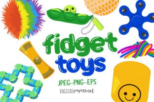 Print on Demand: Fidget Toys Clipart Graphic Illustrations By DigitalPapers