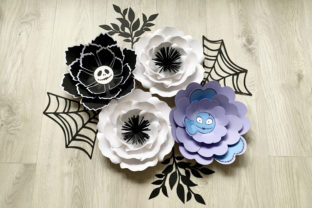 Halloween Paper Flowers, Web, Leaf Graphic 3D Flowers By Canada Crafts Studio