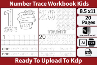 Numbers Tracing Book for Kids Graphic Teaching Materials By kdpkawsarmia
